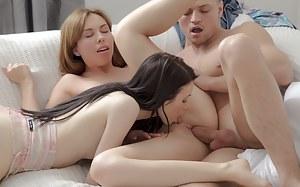 Lesbian FFM Porn Pictures